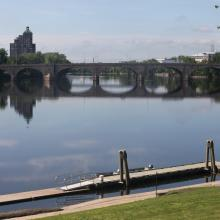 Image of a bridge crossing a river