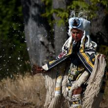 Image of a First Nation's blessing